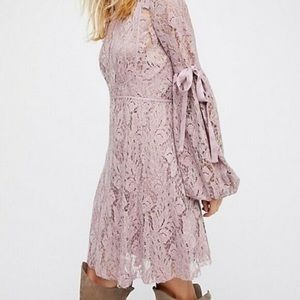 Free People Dresses - Free People Ruby Mini Dress in Mauve